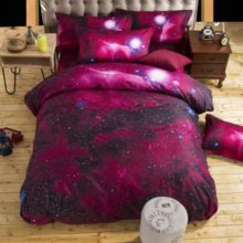 stars of galaxy bed linen sheets