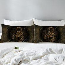 Gold Scorpion Microfibre Pillowcase