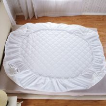 White Quilted Plush Mattress Topper