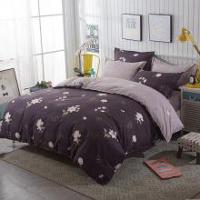 brown-floral-bedding-set