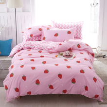 pink-strawberry-bed-set