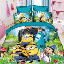 Polyester  cartoon Printing Minions Mitch bedding set 2/4pcs kit of duvet cover bed sheet pillow case bed linen set/twin/single