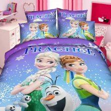 Elsa and Anna bedding sets single twin size pink disney princess duvet cover sweet girl kids bed linens 3d cartoon home textiles