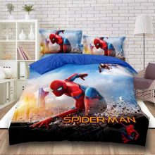 disney Spider man duvet cover set twin size bedding for boys bedroom decor single bedclothes coverlet children kids bed sheets