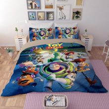 Disney Toy Story Buzz Lightyear bedding set twin size quilt duvet covers for kids bedroom decora boys bed single queen coverlets