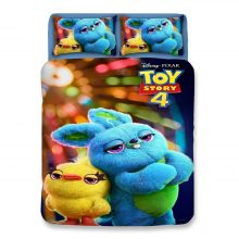 Bunny Ducky Toy Story bedding set twin size quilt duvet cover for kids bedroom decora queen bed covers single twin double child
