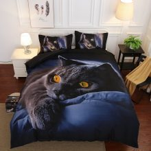 Animal 3D Bedding Set Luxury Europe and America New Design Bedding Set Soft Cat Printing Duvet Pillowcase Bed Set Home Textiles
