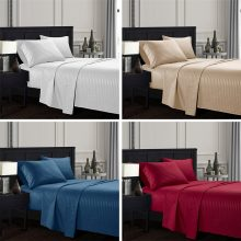 Red Bedding Set 4PCS/Set Elegant Comfort Bedding Set Pure Color Embossed Collection Bed Cover Bed Sheet and Pillowcase Set