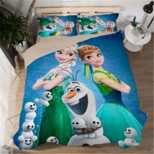Girls Bedding Set Frozen Elsa Anna Double Queen King Size  Duvet Cover Twin Bed Linen Children Comforter Bedding Sets Luxury