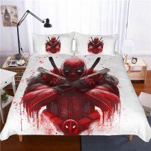 Marvel Deadpool 3D printing bedding set 10 Size comforter bedding sets Super hero bedclothes bed linen duvet cover Pillowcases