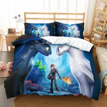 How to train your dragon 3D printed children bedding set Duvet Covers Pillowcases Toothless Night Fury comforter bedding sets
