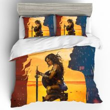 Wonder Woman Cotton Printing Bedding Set Queen King Size  Bedding Sets Duvet Cover Bed Sheets Pillowcases Bed Linen Home Textile