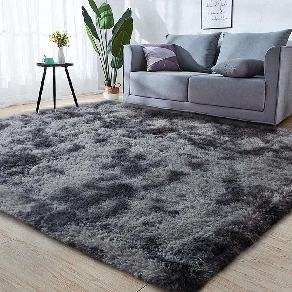 buy fuzzy grey rug online