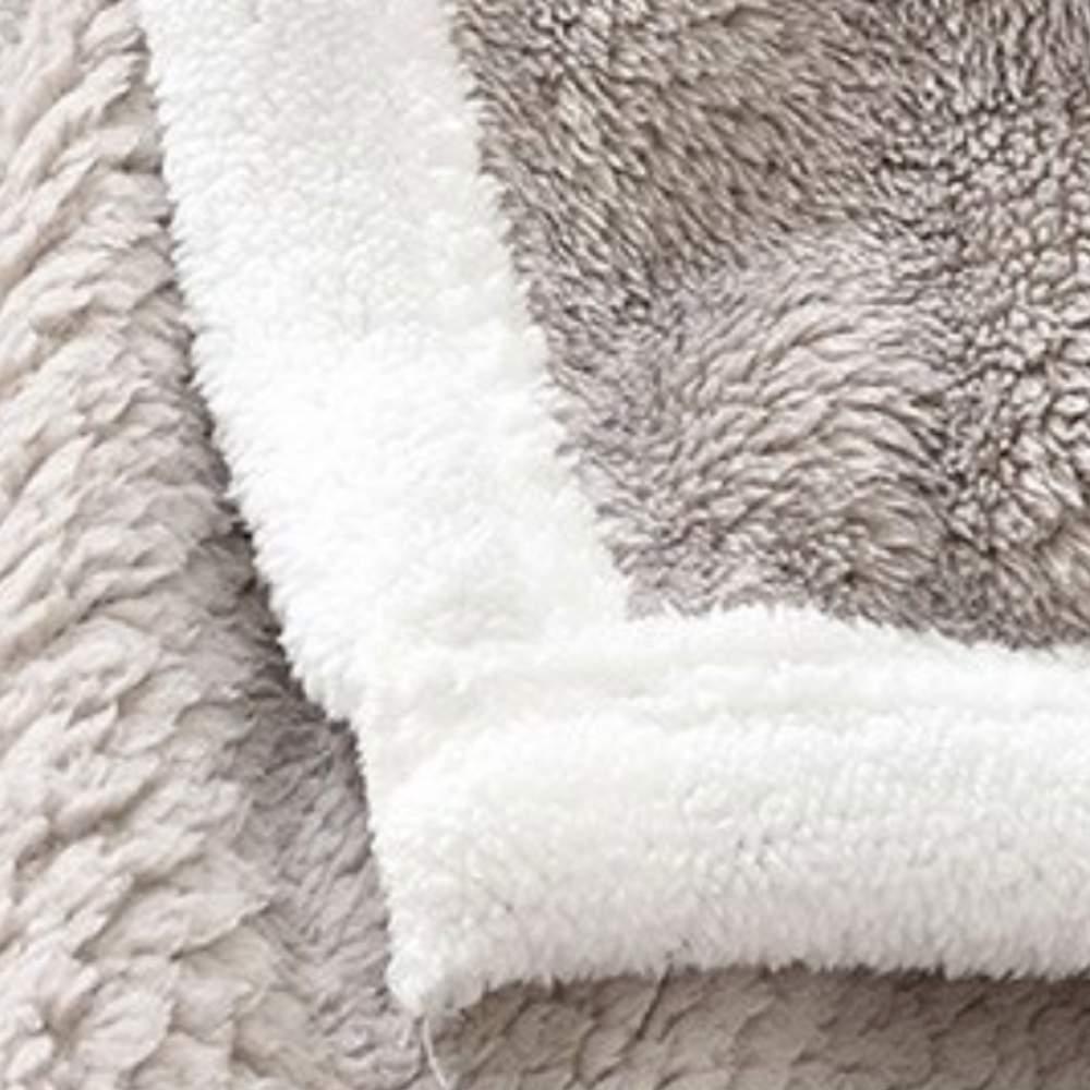 buy silver fuzzy blanket