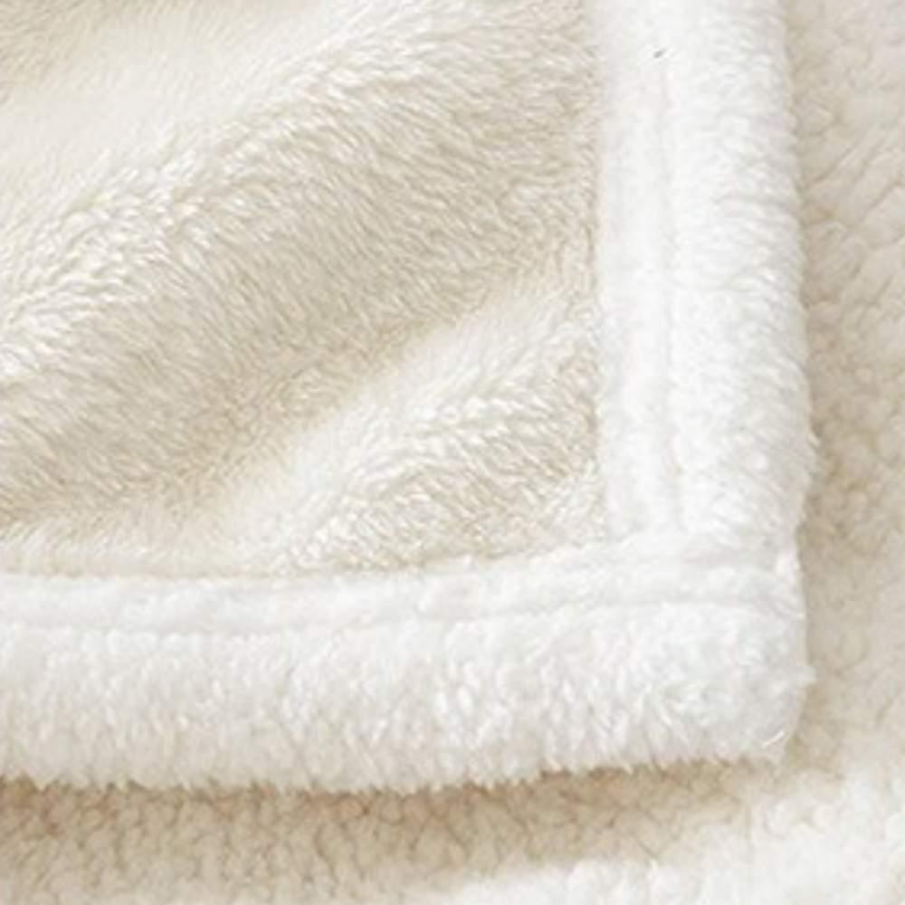 buy white fuzzy blanket