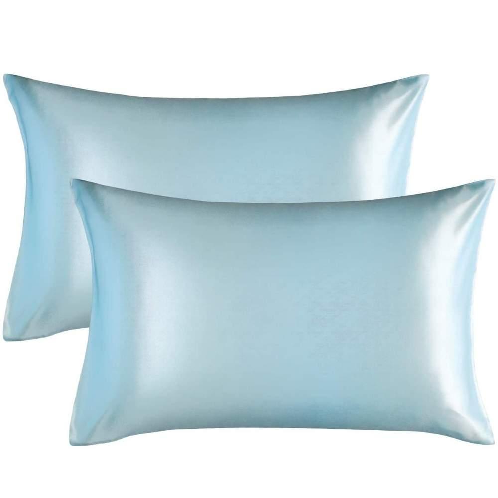buy light blue satin pillowcase