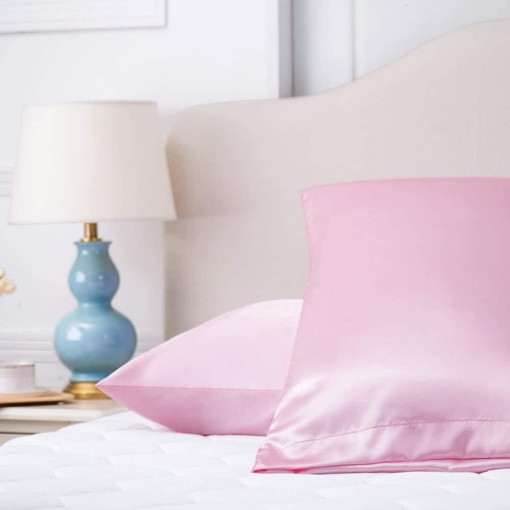 buy pink satin pillow cases