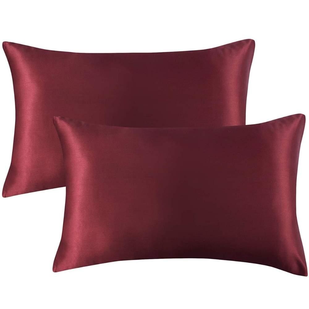 buy red satin pillowcase