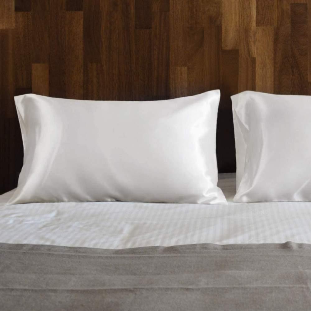 buy white satin pillow cases